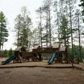 The playground.- Fish Creek Pond State Park