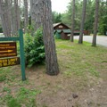 The campground features a trailer dump station and recycling center.- Meacham Lake Campground