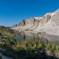 Looking back over Lookout Lake.- Medicine Bow Peak Loop