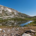 New lakes appear on your way to the saddle.- Medicine Bow Peak Loop