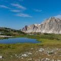 Looking back at the Snowy Range.- Medicine Bow Peak Loop