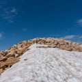 The snowfield leading to the summit.- Medicine Bow Peak Loop