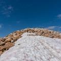The snowfield leading to the summit.- Medicine Bow Peak Loop