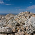 The summit boulder field.- Medicine Bow Peak Loop
