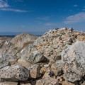 The summit boulder field.- Medicine Bow Peak Loop