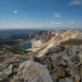 Heading south for the rest of your hike.- Medicine Bow Peak Loop