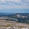 The ridge continues south toward Colorado.- Medicine Bow Peak Loop