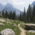 Looking back east down the canyon. This is the view you get on the way back as well.- Lake Solitude via Cascade Canyon