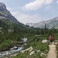 Cascade Creek.- Lake Solitude via Cascade Canyon