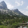 One of the footbridges on the way to the lake.- Lake Solitude via Cascade Canyon