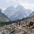 There are some seriously rugged stretches in Cascade Canyon.- Lake Solitude via Cascade Canyon