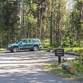 Parking for three tent sites.- Lizard Creek Campground