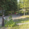 Picnic tables are offered at each site.- Lizard Creek Campground