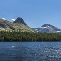 Grizzly Mountain in the distance.- Two Medicine Lake Boat Tour