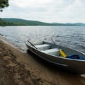 Row boats are available for rent.- Meacham Lake State Park