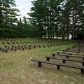 The amphitheater.- Meacham Lake State Park