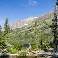 Rising Wolf Mountain.- Two Medicine Lake