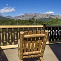 A spot to relax and admire the view.- Glacier Park Lodge