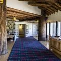 Glacier Park Lodge is beautifully preserved.- Glacier Park Lodge