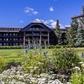 The lodge gardens are beautiful.- Glacier Park Lodge