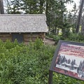 A small historical cabin built by homesteaders.- Spectra Point Trail