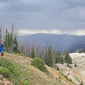 An imminent storm on the Spectra Point Trail.- Spectra Point Trail