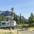 Large pull-through sites have lots of room.- Two Medicine Campground