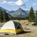 Two Medicine Campground.- Two Medicine Campground