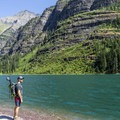 Avalanche Lake.- Avalanche Lake Hike