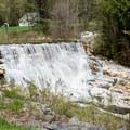 A dam at Natural Bridge State Park.- Natural Bridge State Park