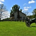 Confederates used the Elkhorn Tavern as a supply base.- Pea Ridge National Military Park