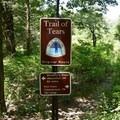 The original Trail of Tears passes through Pea Ridge National Military Park.- Pea Ridge National Military Park