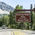 Running Eagle Falls parking area.- Running Eagle Falls Hike