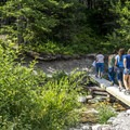 Crossing Two Medicine Creek.- Running Eagle Falls Hike