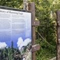The story of Running Eagle in English and Blackfeet.- Running Eagle Falls Hike