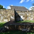 The back of the gallows at Fort Smith National Historic Site.- Fort Smith National Historic Site