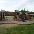 The playground.- Meacham Lake Beach