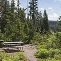 Picnic areas at Point Supreme Campground.- Point Supreme Campground