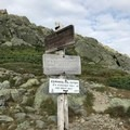The trailhead for the summit of Mount Jefferson, and the continuation of the traverse.- Presidential Traverse