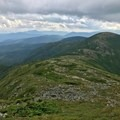 The trail to Mount Eisenhower is clear from Mount Franklin.- Presidential Traverse