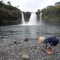 Hanging out at Wai'ale Falls.- Wai'ale Falls