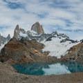Fitz Roy and Glaciar des los Tres.- Laguna des los Tres