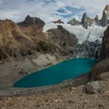 Laguna Sucia lower on the left of the viewpoint.- Laguna de los Tres