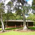The recreational dining hall.- Kalōpā State Park and Recreation Area Campground