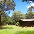 One of the cabins.- Kalōpā State Park and Recreation Area Campground