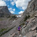 On the way to Andrews Tarn.- Andrews Glacier Trail