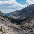 Looking back down the gorge.- Andrews Glacier Trail