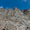 Rocky ridgeline on the right.- Andrews Glacier Trail