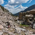 On the way back down the boulder field.- Andrews Glacier Trail