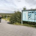 An information board at the entrance.- Hraunfossar and Barnafoss
